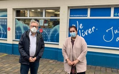 NHS Chief Vaccinated at Lalys Pharmacy